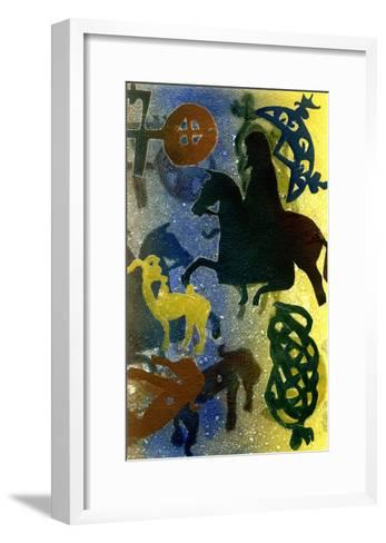 Pictish Horsemen-Gloria Wallington-Framed Art Print