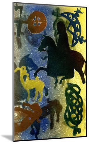 Pictish Horsemen-Gloria Wallington-Mounted Giclee Print