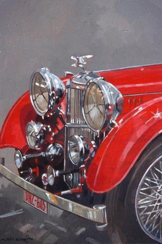 Red Sp.25 Alvis-Peter Miller-Stretched Canvas Print