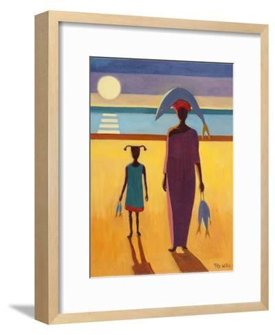 Woman with Fish-Tilly Willis-Framed Art Print