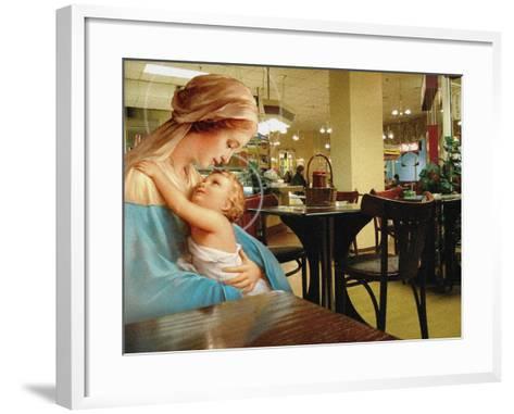 Kebab Madonna, 2002-Trygve Skogrand-Framed Art Print