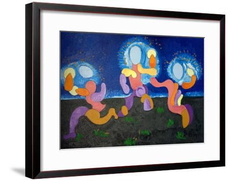 In the Warm Nights of June,The Troglodytes Celebrate Fire, 2009-Jan Groneberg-Framed Art Print