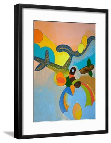 Ten Minutes after His Final Take-Off, Ikarus Gets Attacked by a Bird of Paradise, 2010-Jan Groneberg-Framed Art Print