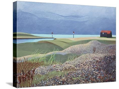 Hut, Rye Harbour-Anna Teasdale-Stretched Canvas Print