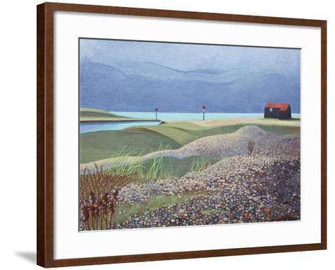 Hut, Rye Harbour-Anna Teasdale-Framed Art Print