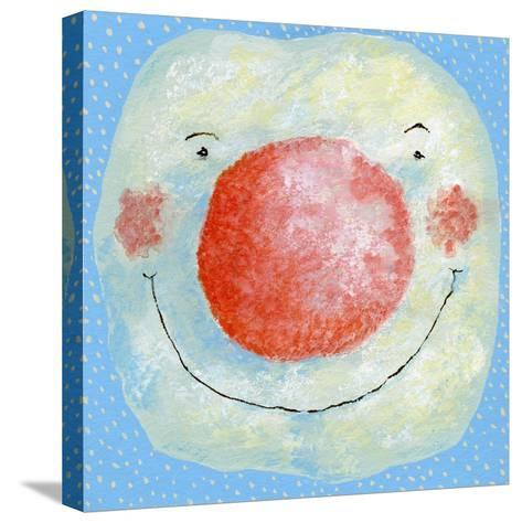 Smiling Snowman-David Cooke-Stretched Canvas Print