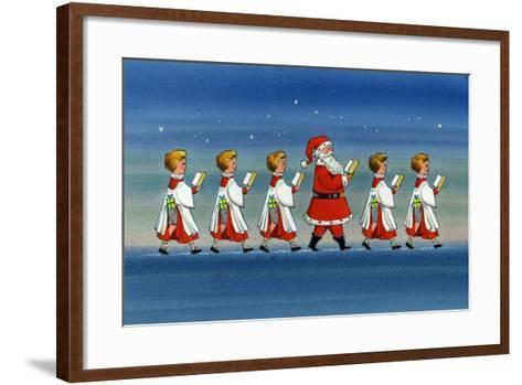 Choirboys and Santa-Stanley Cooke-Framed Art Print