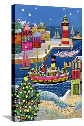Seaside Santa-Stanley Cooke-Stretched Canvas Print
