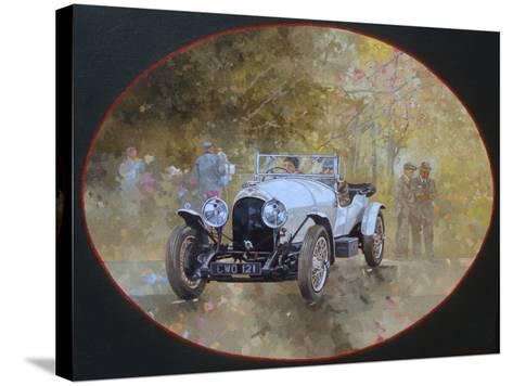 3 Litre Bentley at Kelmarsh-Peter Miller-Stretched Canvas Print