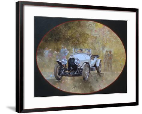3 Litre Bentley at Kelmarsh-Peter Miller-Framed Art Print