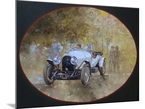 3 Litre Bentley at Kelmarsh-Peter Miller-Mounted Giclee Print