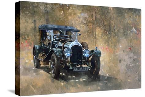 3 Litre Bentley at Cottesbrooke-Peter Miller-Stretched Canvas Print