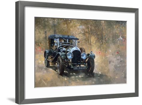3 Litre Bentley at Cottesbrooke-Peter Miller-Framed Art Print