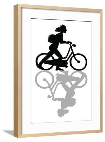 Muriel Didn't Know Whether She Was Coming or Going-Mike Swift-Framed Art Print
