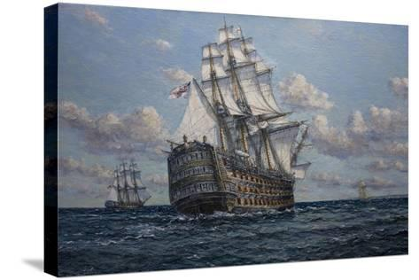 'Victory' Flagship of Vice Admiral Lord Nelson, 2010-John Sutton-Stretched Canvas Print