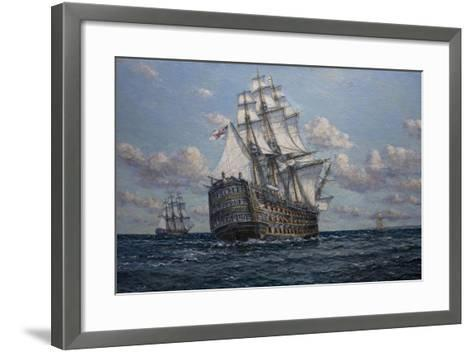 'Victory' Flagship of Vice Admiral Lord Nelson, 2010-John Sutton-Framed Art Print
