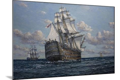 'Victory' Flagship of Vice Admiral Lord Nelson, 2010-John Sutton-Mounted Giclee Print
