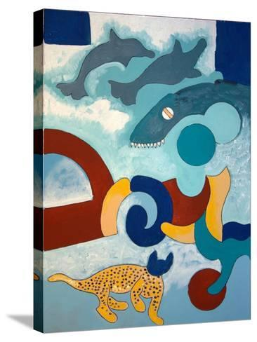 The Leopard Has a Blue Head, 2009-Jan Groneberg-Stretched Canvas Print