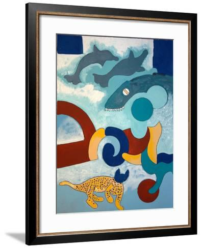 The Leopard Has a Blue Head, 2009-Jan Groneberg-Framed Art Print