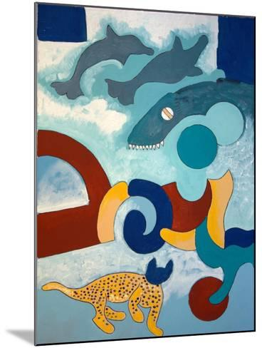 The Leopard Has a Blue Head, 2009-Jan Groneberg-Mounted Giclee Print