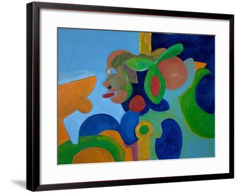 Self-Portrait as a Pig Flying High, 2009-Jan Groneberg-Framed Art Print