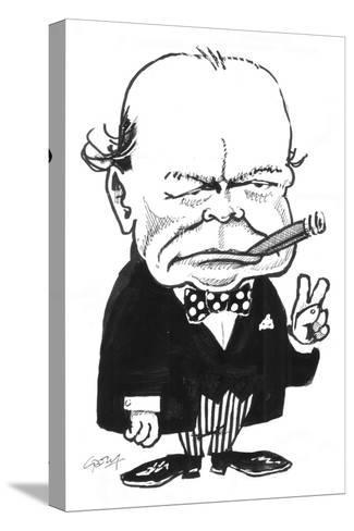 Churchill-Gary Brown-Stretched Canvas Print