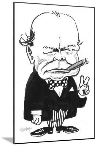 Churchill-Gary Brown-Mounted Giclee Print