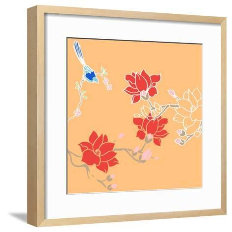 Blossom Birds-Anna Platts-Framed Art Print