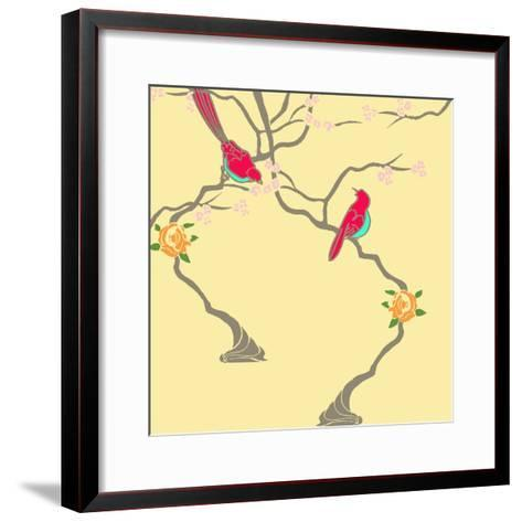 Blossom Birds-Anna Platts-Framed Art Print