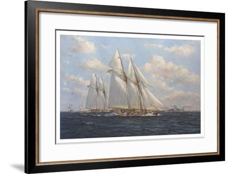 The America's Cup 1871 'Columbia Leading Livonia'-John Sutton-Framed Art Print