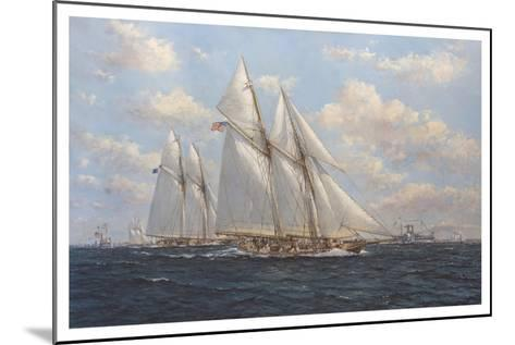 The America's Cup 1871 'Columbia Leading Livonia'-John Sutton-Mounted Giclee Print