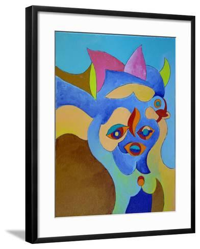 Don't Play with Her; She's a Bad Girl, 2010-Jan Groneberg-Framed Art Print
