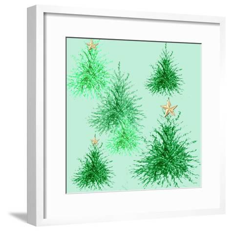 Star Trees-Anna Platts-Framed Art Print