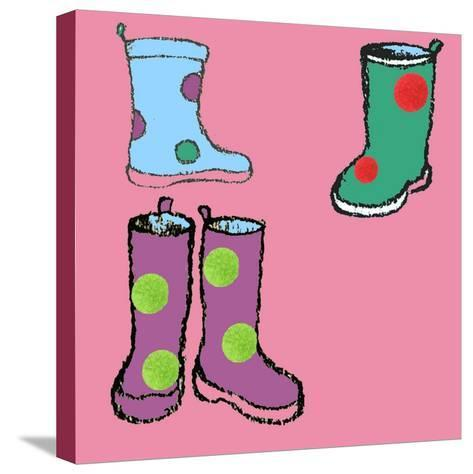 Wellies-Anna Platts-Stretched Canvas Print