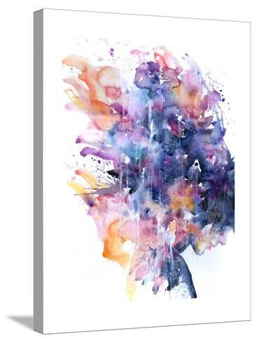 In A Single Moment All Her Greatness Collapsed-Agnes Cecile-Stretched Canvas Print