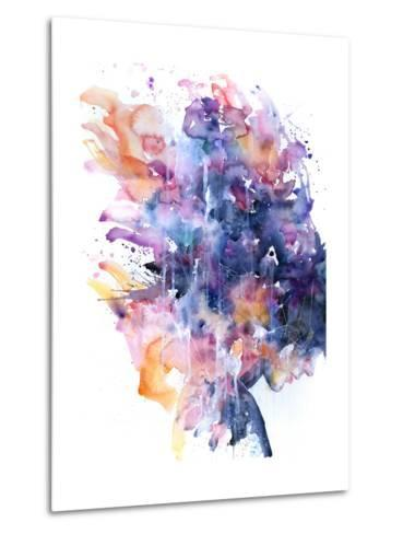 In A Single Moment All Her Greatness Collapsed-Agnes Cecile-Metal Print