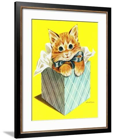 Wrapped in a Bow - Jack & Jill-Wilmer H. Wickham-Framed Art Print
