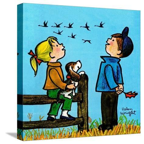 Into the Wild Blue Yonder - Jack & Jill-Helen Wright-Stretched Canvas Print