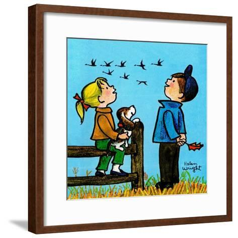 Into the Wild Blue Yonder - Jack & Jill-Helen Wright-Framed Art Print