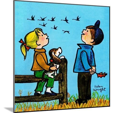 Into the Wild Blue Yonder - Jack & Jill-Helen Wright-Mounted Giclee Print