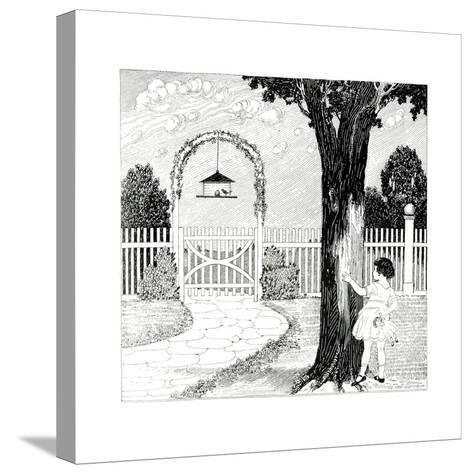 The Bird House - Child Life-G.H. Mitchell-Stretched Canvas Print