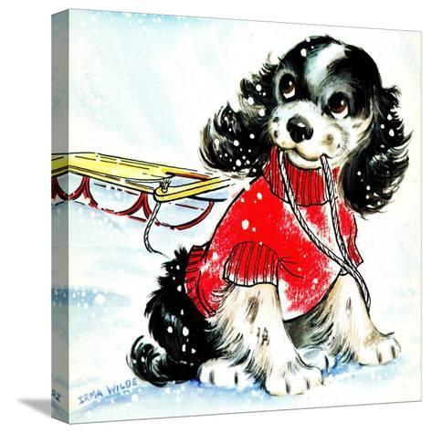 First Snow - Jack & Jill-Allan Eitzen-Stretched Canvas Print