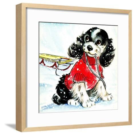 First Snow - Jack & Jill-Allan Eitzen-Framed Art Print