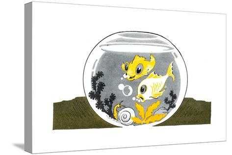An Aquarium - Jack & Jill-Peggy Smithers-Stretched Canvas Print
