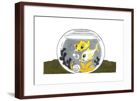 An Aquarium - Jack & Jill-Peggy Smithers-Framed Art Print