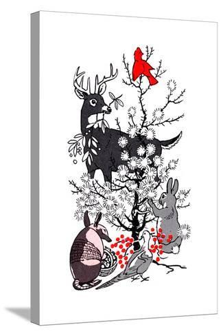 The Thornbush Christmas Tree - Jack & Jill--Stretched Canvas Print