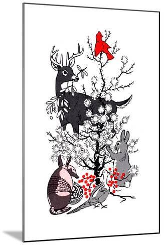 The Thornbush Christmas Tree - Jack & Jill--Mounted Giclee Print