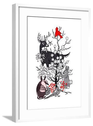The Thornbush Christmas Tree - Jack & Jill--Framed Art Print