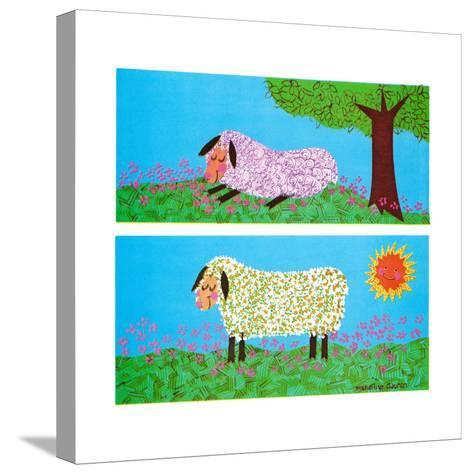 The Lamb - Jack & Jill-Madeline Gauron-Stretched Canvas Print