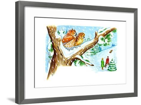 December Owls - Jack & Jill-Patricia Lynn-Framed Art Print